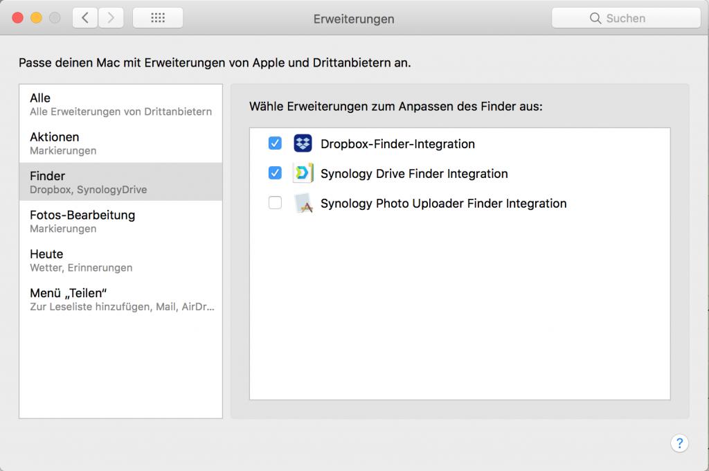 Finder-Integration